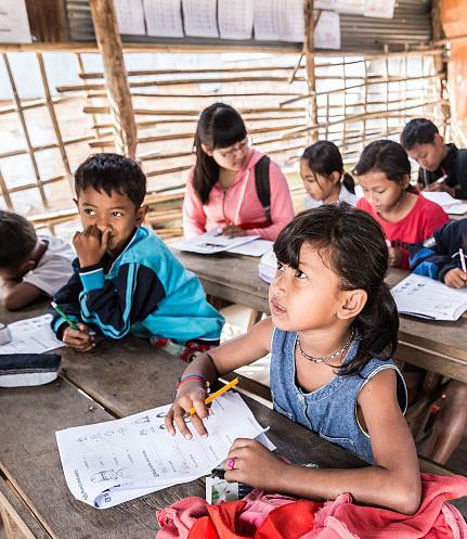 Charity Activities in Liening Primary School