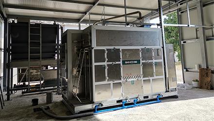 Italy Scalea SBDD2400FL Applied in 3T WWTP Sludge Disposal